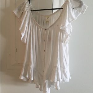 Free people cream top size large bnwt